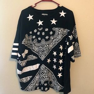 Mecca Stars And Shapes Tee Shirt Size XXL